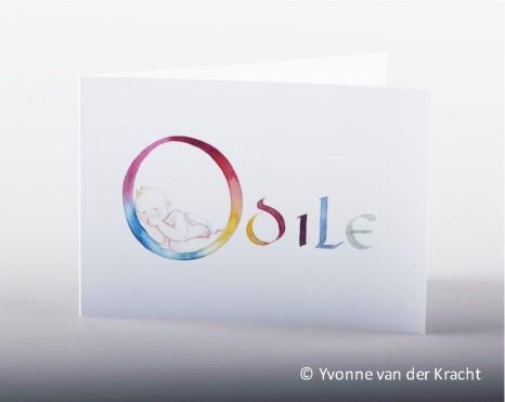 Kalligrafie geboortekaart